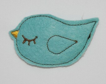 Wool Felt Blue Bird Snap Clip by Chic Baby Rose
