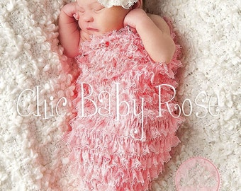 50% OFF Select Newborn Lace and Ruffles Cocoon by Chic Baby Rose in 22 Colors Great Photography Prop
