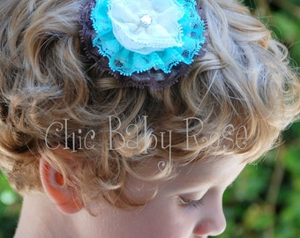 Build Your Own Lace Rosette Clip or Band by Chic Baby Rose