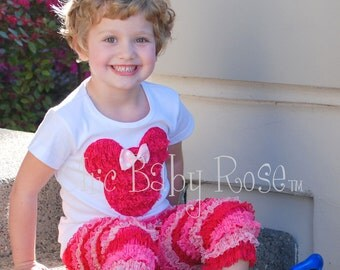The Mouse Collection by Chic Baby Rose Lace Mouse Top and Pants to Match