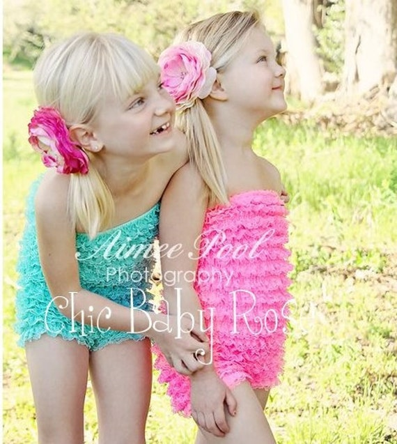 50% OFF Select Original Big Girl Lace Petti Romper by Chic Baby Rose in 22 Colors
