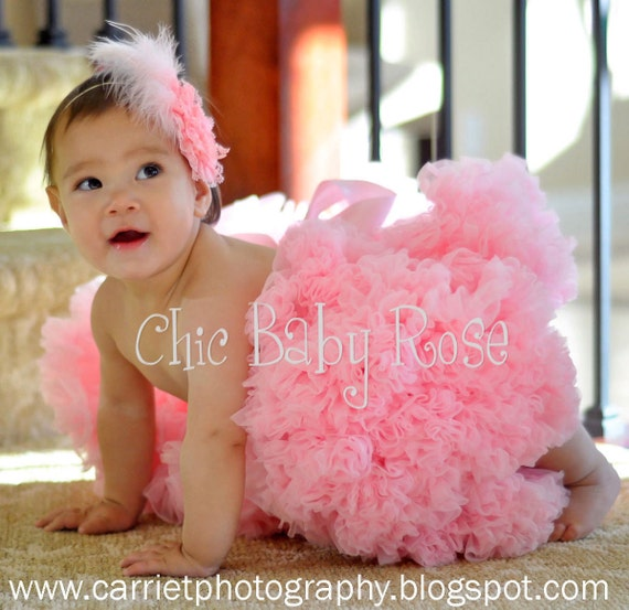 9 Inch Tutu Length Pettiskirt by Chic Baby Rose in 14 Colors Great Photography Prop