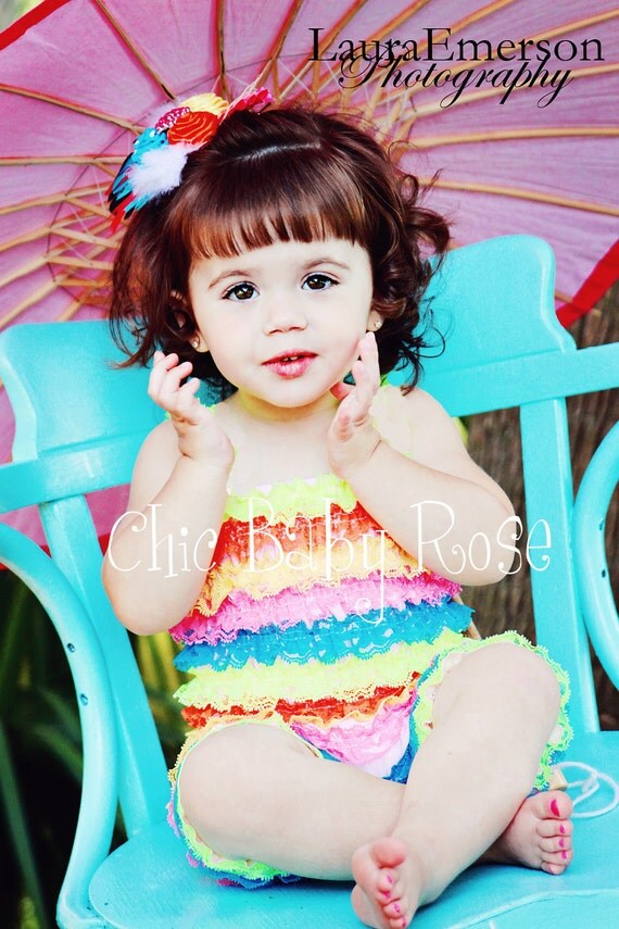 50% OFF The Original Multi Color Big Girl Petti Romper in 7 Fun Color Combos by Chic Baby Rose