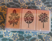 TREE and LEAF rubber stamps by Hero Arts for Card Making Scrapbooking and Paper Crafting