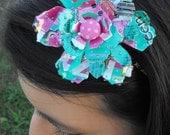 Recycled Flower Headband Upcycled Arizona Tea Can Fun Teenage Gift