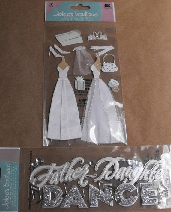 Wedding Stickers Bridal Gown And Father Daughter Dance By