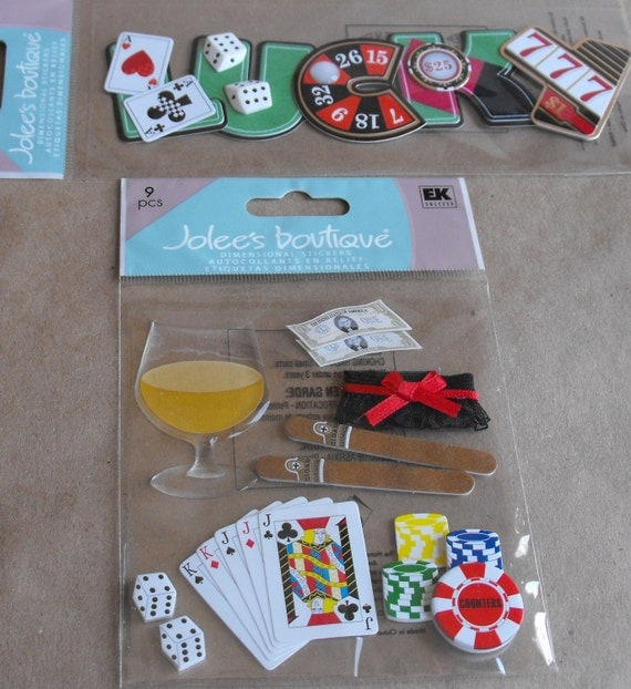 Bachelor Party stickers and LUCKY Title embellishments by Jolees for Wedding Scrapbooking Card Making Paper Crafting