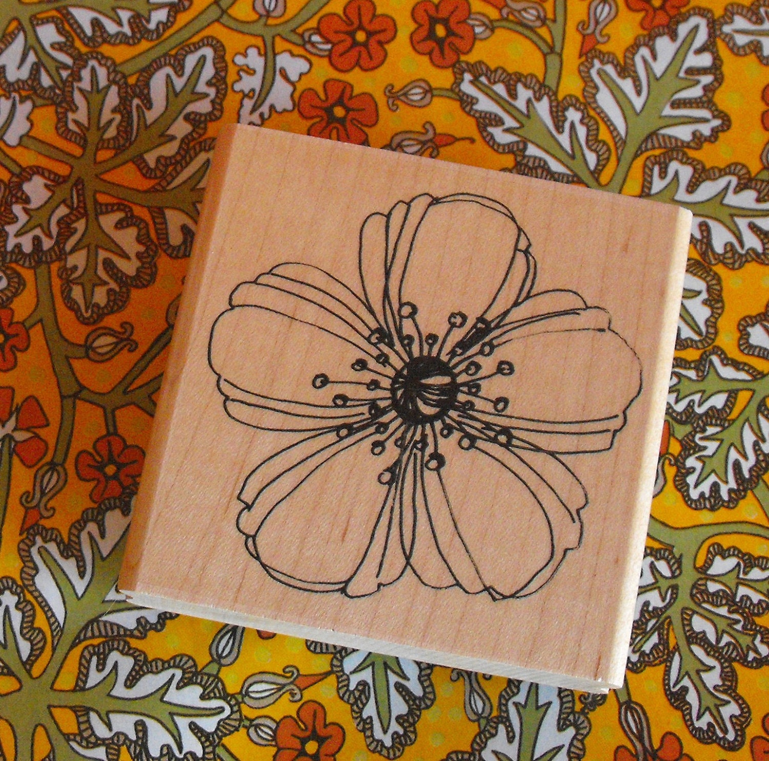 Flower rubber STAMP for Card Making Scrapbooking and Paper