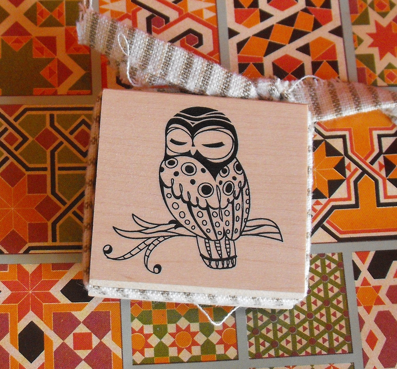 Owl Rubber Stamp for Card making Scrapbooking by ...