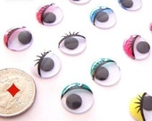 15mm - Moving Movable Wiggly Wiggle Assorted Craft Eyes Glue Eyes
