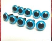 12 mm Stuffed toys eyes Plastic eyes safety eyes - BLUE - 5 pairs