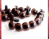 15mm Brown Animals eyes Amigurumi Plastic eyes Safety eyes - 15 PAIRS