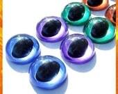 18 mm amigurumi \/ plastic \/ animal CAT\/ FISH safety eyes - 5 PAIRS - Hand painted PEARL series
