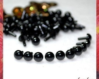 6 mm Black Animal eyes Plastic eyes craft safety eyes - 25 PAIRS (6B25m)