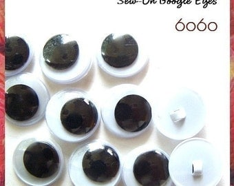 20 mm Sew On Google Eyes - 2 PAIRS
