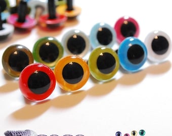 18mm Plastic eyes Safety eyes 10 pairs Mixed Colors (18M10)
