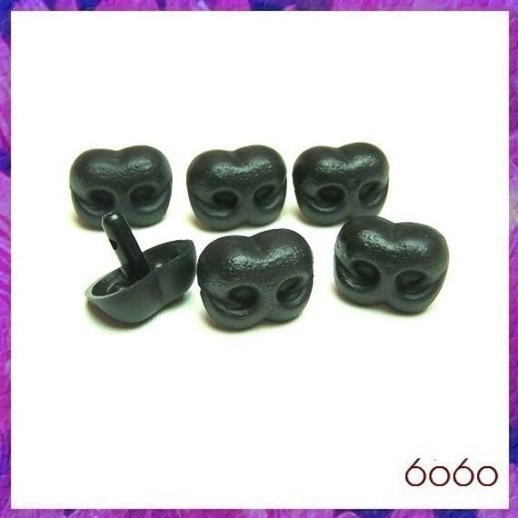 25 mm Black Plastic Nose Animal Amigurumi Safety Noses - 6 ...