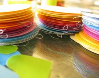sewn paper sunset decoration three pack