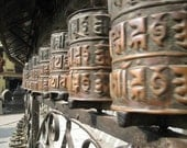 Prayer Wheels in Motion - 5 x 7 Original Photograph SALE