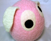 Pinky the Bunny - Snooter-doot hand-knit, felted-wool softie - a perfect fit for YOUR Easter basket