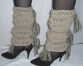Leg Warmers With Fringe