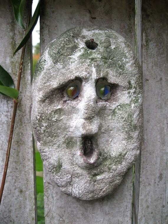 Garden Face Garden Art Garden Decor Garden Stone By Whimsytwo