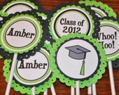 Graduation Cupcake Toppers. Grad. Cupcake Picks. Choose your colors. Set of 12