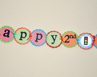 Car Banner. Beep Beep. Vroom Vroom. Transportation Happy Birthday Banner.