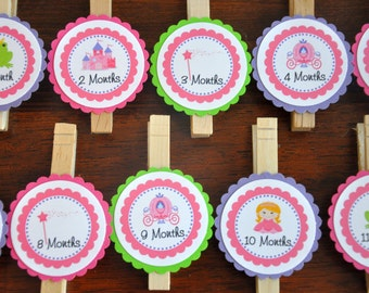 Princess Photo Clips. Photo Banner. Picture Banner. Happy Birthday.First Birthday. Princess. Castle. Set of 13. Choose your princess