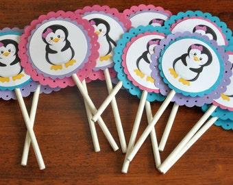 Penguin Cupcake Toppers. Cupcake Picks. Penguin. Choose Girl or Boy. Set of 12