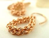 Teardrop Bronze Chain Earrings - Jens Pind Chainmaille