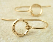 Endless On Edge Circle Earrings - 14 kt Gold Filled