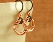 Hypoallergenic Niobium Earrings - Little Cuties with Copper