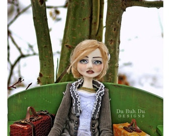 Art Doll Print-Sylvia by Christine Alvarado