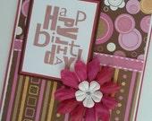 Girly Girl Glitter Birthday Greeting Card
