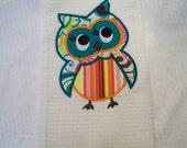 Cute Owl Towel teal