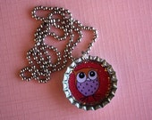 Owl Bottlecap Necklace