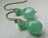 How Does Your Garden Grow Earrings - Chrysoprase