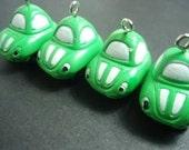green car charm cute geekery x 4