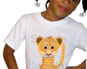 Custom TIGER White T-shirt (Add Name Optional) -et
