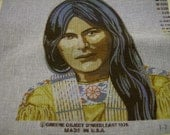 SALE Beautiful Maiden  1976 Needlepoint Canvas by Erin H. Green & Co.