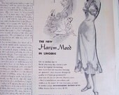 Vintage Lingerie Ad 1949 Seamprufe new Harem Mood risque womans clothing underware