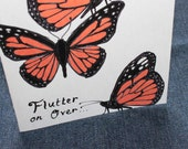 RESERVED for ASHLIE MILLER  Butterfly Birthday Invitations