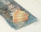 Seashore Art Mini - Mixed Media Art with Shell Fragment