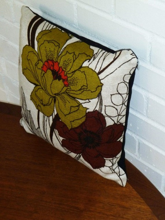14 x 14 Two Poppies Pillow Cover by Vintage Renewal