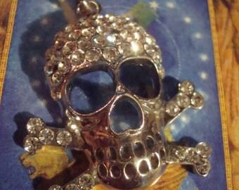 White Hot Crystal Skull Pendant