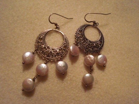 Silver Coins of Venice Earrings