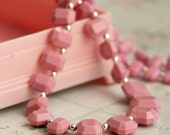 vintage swarovski necklace - pink