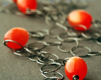 midnight sun silver chain necklace
