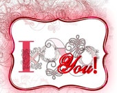 Valentines Card. I XOXOXO You. Frilly Female Version to share with someone you love.